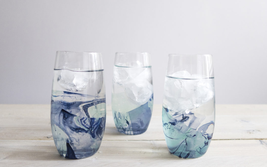 DIY | waterglazen
