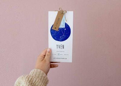 Geboortekaartje voor Yven