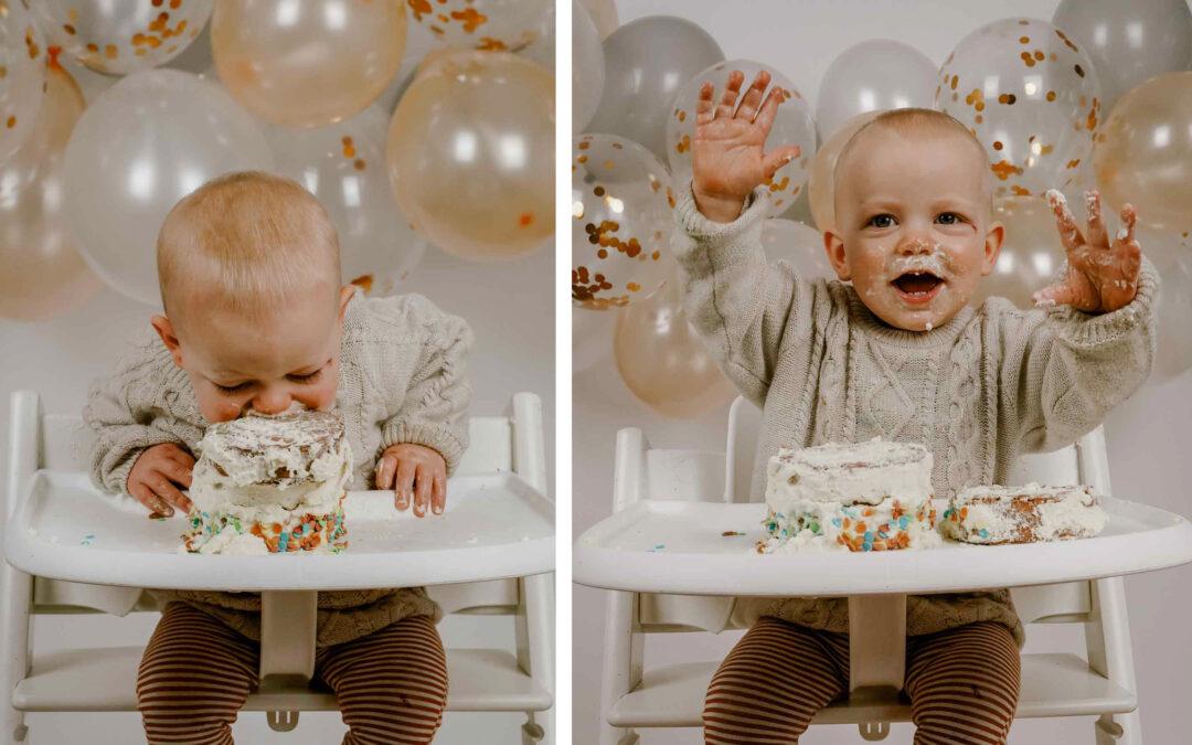 Cake smash – Hoera Sidney is 1 jaar