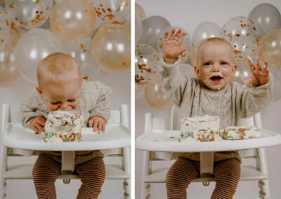 Cake smash – Hoera Sidney is 1 jaar